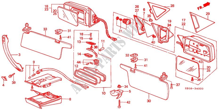 Honda Genuine 88010-SA5-000ZK Ashtray Body Set
