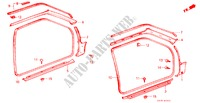 DOOR TRIM (2D) for Honda Cars CIVIC GL 3 Doors 5 speed manual 1985