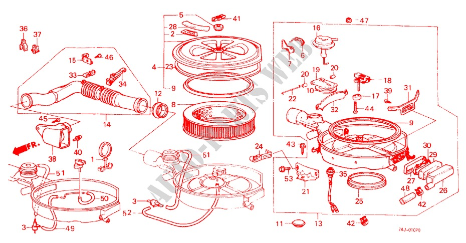 Air Cleaner For Honda Cars Civic Shuttle Dx 5 Doors 5