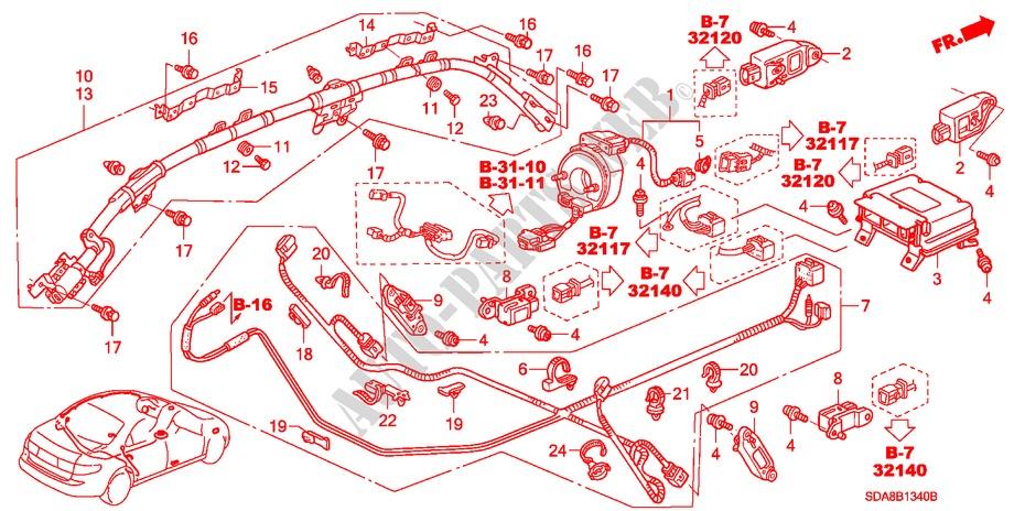 Honda Genuine 83241-SDB-A81 Grab Rail Bracket