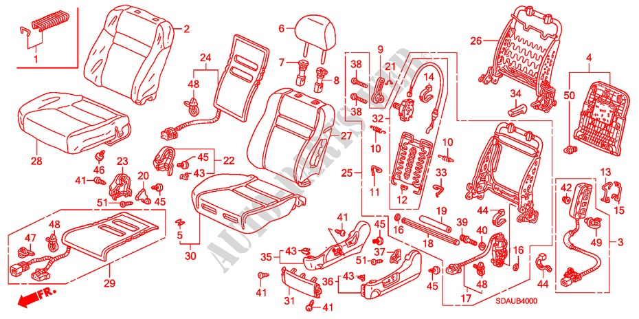Sliver L Mil2 Sparco MS557000A9SX Seat Hinge Cover