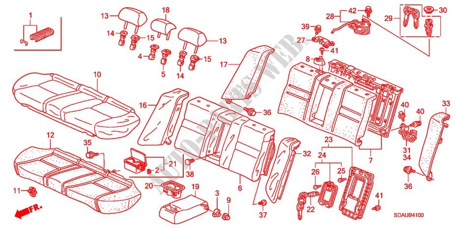 Honda Genuine 82131-S84-A01ZC Seat Cushion Trim Cover Rear