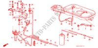 AIR CLEANER TUBING (CARBURETOR) ELECTRICAL EQUIPMENTS, EXHAUST, HEATER ACCORD honda-cars 1988 EX B__0101
