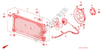 AIR CONDITIONER (CONDENSER) for Honda Cars ACCORD EX 3 Doors 4 speed automatic 1986