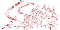 EXHAUST MANIFOLD (1) for Honda Cars ACCORD EX 3 Doors 4 speed automatic 1986