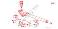 POWER STEERING GEAR BOX (LH) STEERING, BRAKE, SUSPENSION ACCORD honda-cars 1988 EX B__3301
