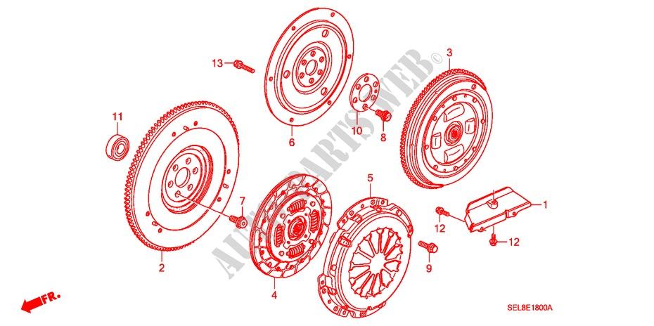 Clutch  Flywheel For Honda Cars City Zx Vti 4 Doors 5 Speed
