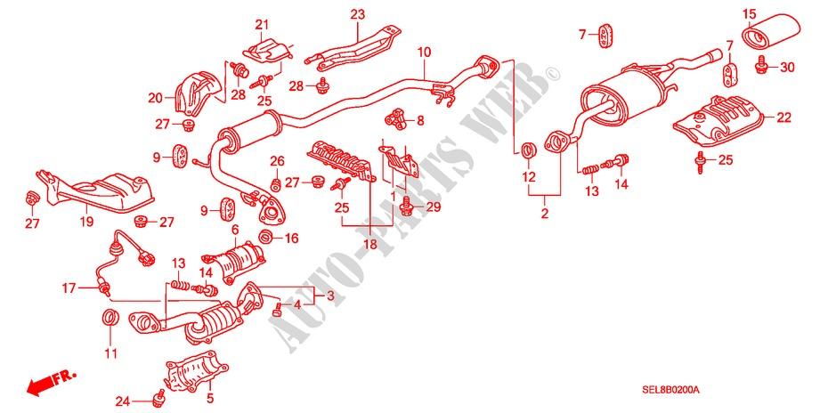 Genuine Honda 74601-S5D-000 Floor Heat Baffle Plate