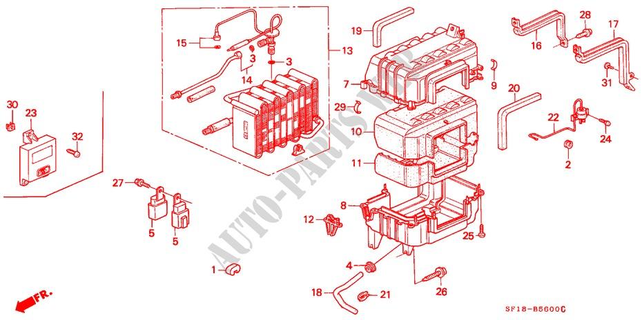 Genuine Honda 80201-SF1-A02 Evaporator Case