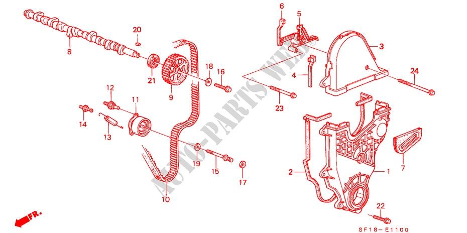 Camshaft Timing Belt Carb Engine 20ex 1989 Prelude Honda Cars. Honda Cars Prelude 1989 20ex 5 Speed Manual Engine Camshafttiming Belt Carb. Honda. Honda Prelude Timing Belt Diagram At Scoala.co