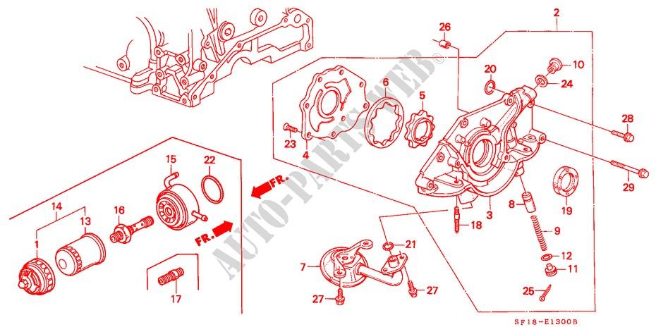 honda cars prelude 1989 2 0si 4 automatic speed engine oil pump