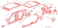 BODY STRUCTURE COMPONENTS (3) for Honda Cars CIVIC GL 4 Doors 4 speed automatic 1988