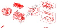 GASKET KIT/ENGINE ASSY./ TRANSMISSION ASSY. for Honda Cars CIVIC GL 4 Doors 4 speed automatic 1988