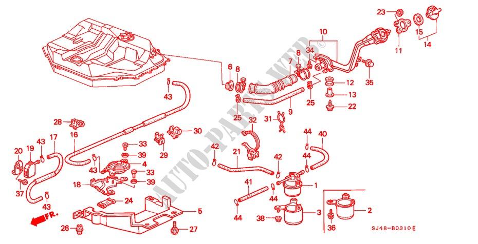 Genuine Honda 17651-SB3-000 Filler Neck Connecting Tube
