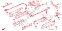 EXHAUST MANIFOLD for Honda Cars LEGEND LEGEND 4 Doors 4 speed automatic 1991