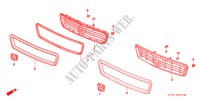 FRONT GRILLE (1) for Honda Cars LEGEND LEGEND 4 Doors 4 speed automatic 1991