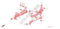 SEAT COMPONENTS (1) for Honda Cars CIVIC CRX SIR-T 2 Doors 5 speed manual 1993