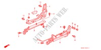 SEAT COMPONENTS (2) for Honda Cars CIVIC CRX SIR-T 2 Doors 5 speed manual 1993