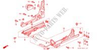FRONT SEAT COMPONENTS (2) for Honda Cars PRELUDE SI 2 Doors 5 speed manual 1996