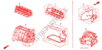 GASKET KIT/ENGINE ASSY./ TRANSMISSION ASSY. for Honda Cars PRELUDE SI 2 Doors 5 speed manual 1996