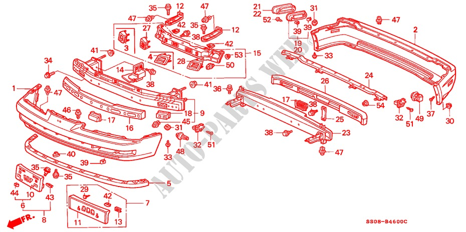 BUMPERS (1) for Honda Cars PRELUDE SI 2 Doors 5 speed manual 1996