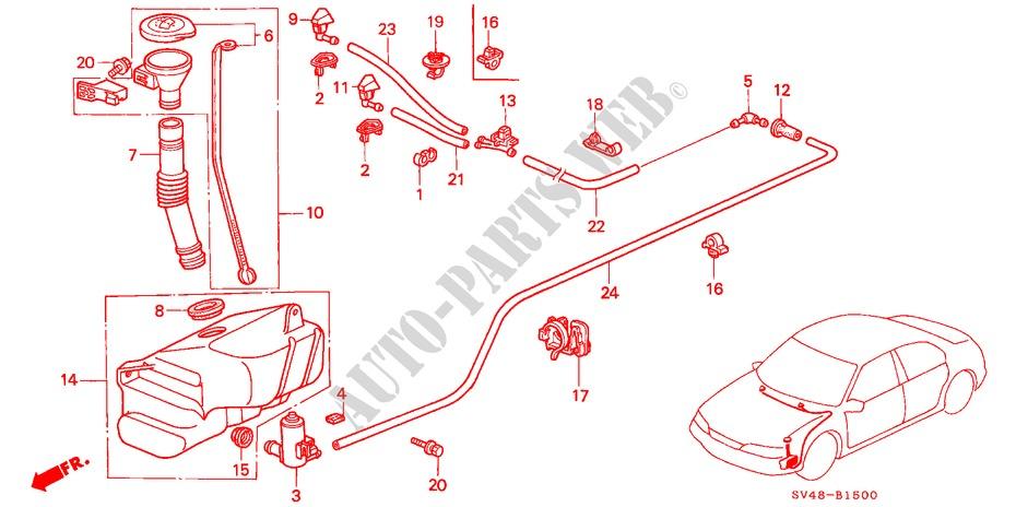 WINDSHIELD WASHER for Honda Cars ACCORD VTI-S THAILAND 4