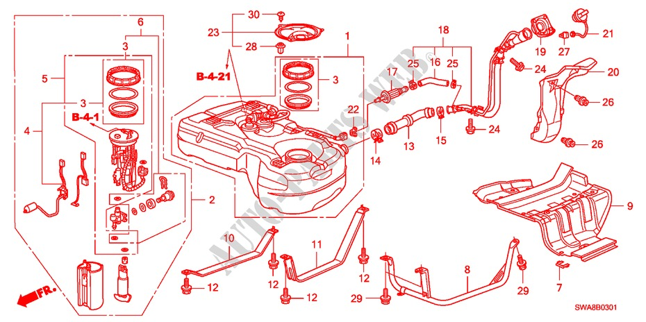 Genuine Honda 17522-T0A-000 Fuel Tank Mounting Band
