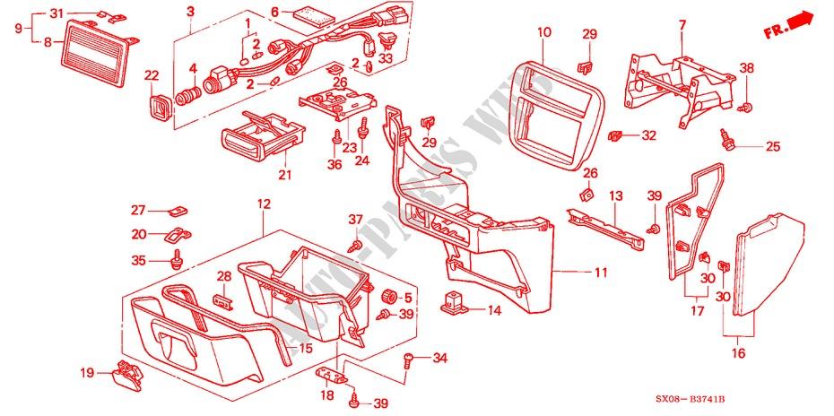 Honda Genuine 77292-SX0-000ZA Center Console Box