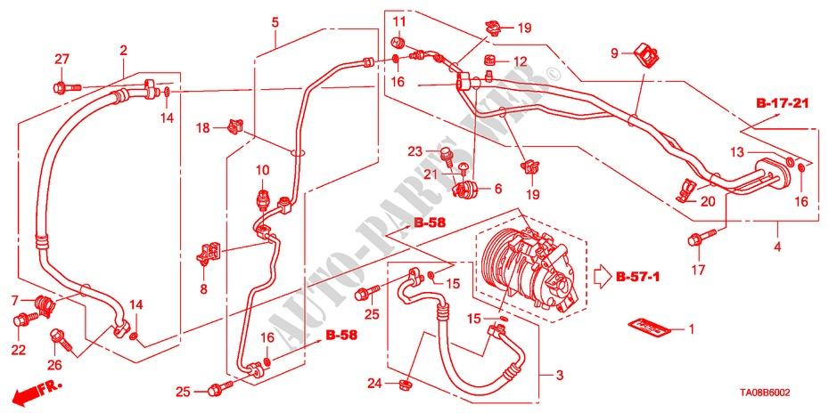 Suction Hose Genuine Honda 80311-TA0-A01