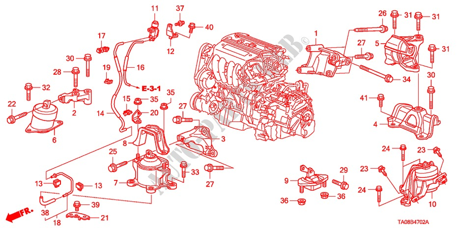 Engine Mounts 2 4l  For Honda Cars Accord 2 4ex 4 Doors 5 Speed Automatic 2011   Honda Cars
