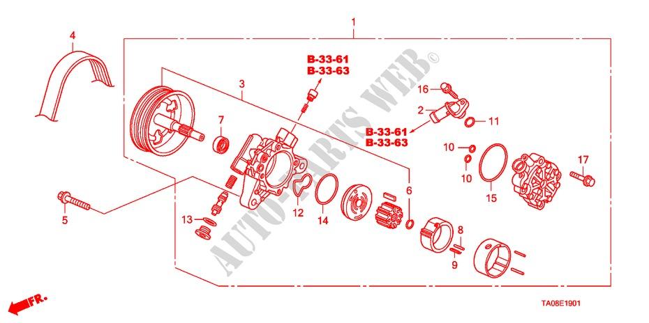 Power Steering Pump 2 4l  For Honda Cars Accord 2 4ex 4