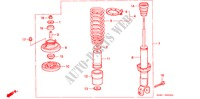 REAR SHOCK ABSORBER for Honda Cars BALLADE 150I 4 Doors 4 speed automatic 1998