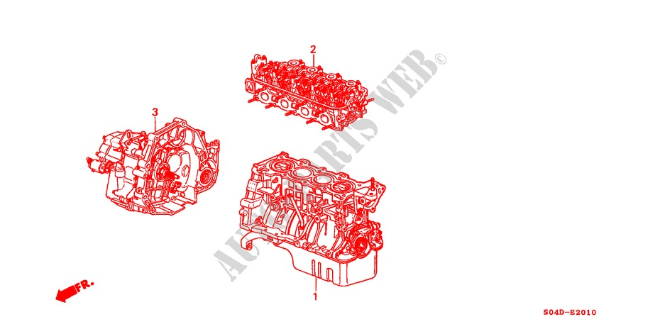 ENGINE ASSY./ TRANSMISSION ASSY. for Honda Cars BALLADE 150I 4 Doors 4 speed automatic 1998