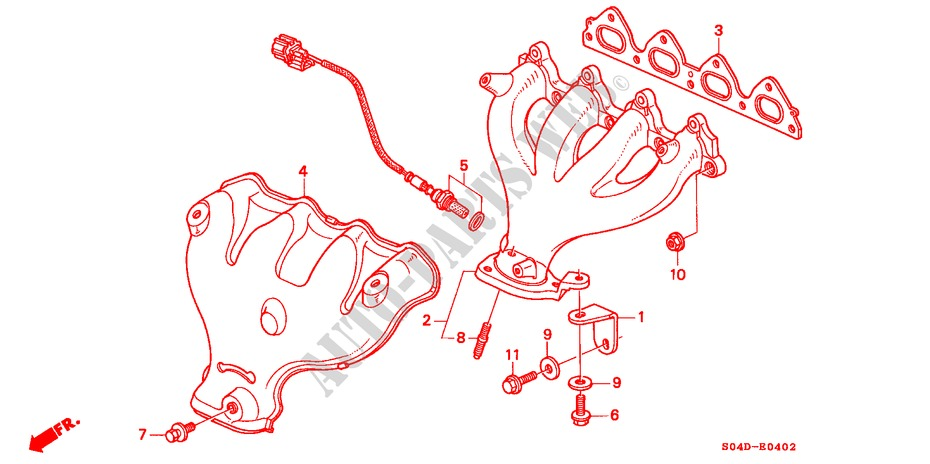 EXHAUST MANIFOLD (3) for Honda Cars BALLADE 150I 4 Doors 4 speed automatic 1998