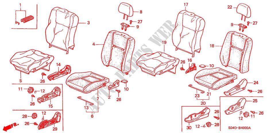 Front Honda Genuine 81147-SR3-003ZB Headrest Pillar Cover Right