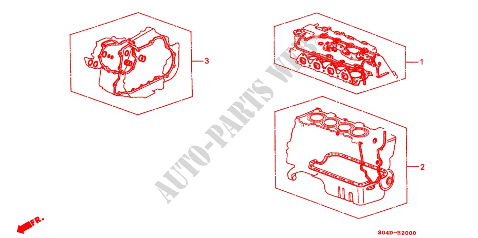 GASKET KIT for Honda Cars BALLADE 160I 4 Doors 4 speed automatic 1998