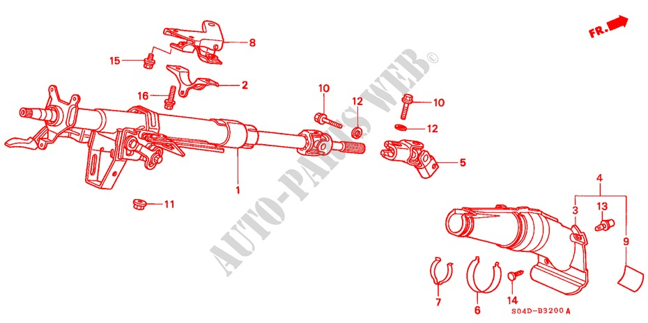STEERING COLUMN for Honda Cars BALLADE 150I 4 Doors 4 speed automatic 1998