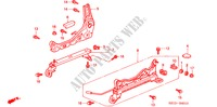 FRONT SEAT COMPONENTS (R.)(1) for Honda Cars BALLADE 150I 4 Doors 5 speed manual 2000