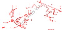 FRONT STABILIZER/ FRONT LOWER ARM for Honda Cars BALLADE 150I 4 Doors 5 speed manual 2000