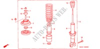 REAR SHOCK ABSORBER for Honda Cars BALLADE 150I 4 Doors 5 speed manual 2000