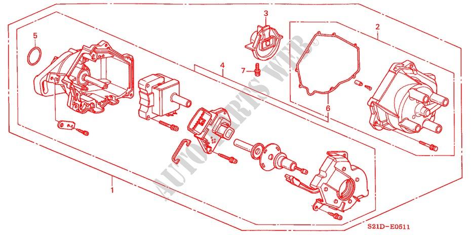 distributor hitachi d4t94 04 engine 160i 2000 ballade honda cars rh parts honda uk 97 Honda Accord Distributor Diagram 2001 Honda Civic Wiring Diagram