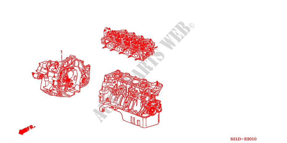 ENGINE ASSY./ TRANSMISSION ASSY. for Honda Cars BALLADE 150I 4 Doors 5 speed manual 2000