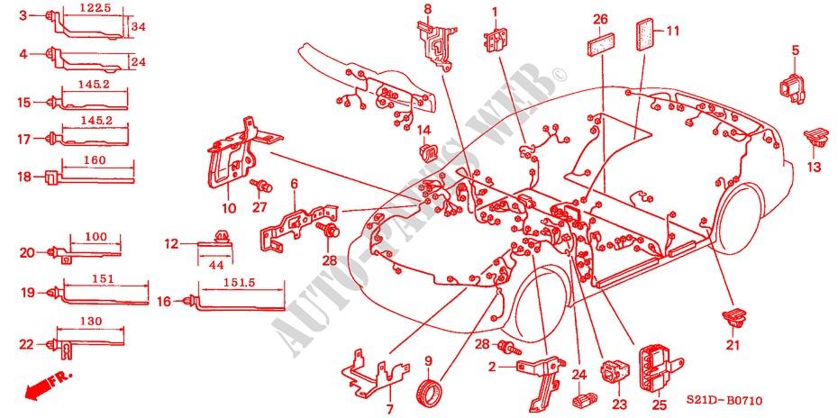 Genuine Honda 32754-P2E-A00 Engine Wiring Harness Stay