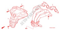 EXHAUST MANIFOLD (1) for Honda Cars CIVIC EXI 4 Doors 4 speed automatic 2004