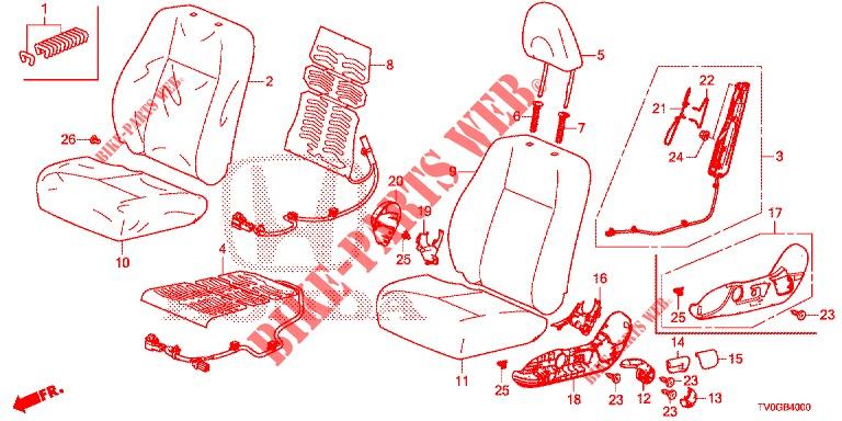 Honda Genuine 81144-TF0-G01ZB Headrest Lock Guide