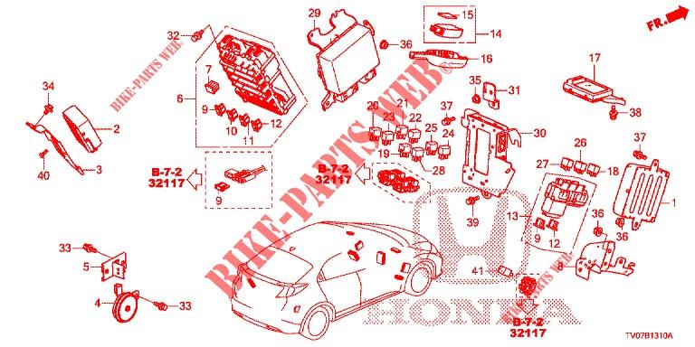 Control Unit  Cabine   1   Lh  For Honda Cars Civic 1 8