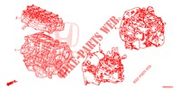GASKET KIT/ENGINE ASSY./ TRANSMISSION ASSY.  for Honda Cars CIVIC TOURER 1.8 EXECUTIVE 5 Doors 6 speed manual 2014