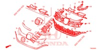 FRONT GRILLE/MOLDING (2) for Honda Cars CR-V 2.0 EXCLUSIVE L 5 Doors 5 speed automatic 2015
