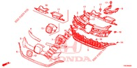FRONT GRILLE/MOLDING  for Honda Cars CR-V 2.0 COMFORT 5 Doors 5 speed automatic 2016