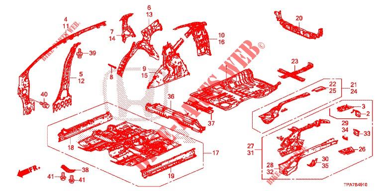 Honda Genuine 65750-T0B-A00ZZ Floor Crossmember